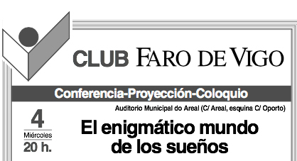 "Presentación de ""Sueños"" en el Club Faro de Vigo"